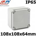 Boitier électrique étanche carré 108x108x64mm