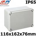 Boitier électrique étanche IDE EL161 Dimensions 116x162x76mm