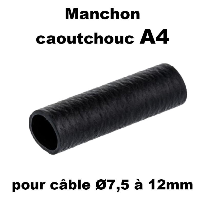 Manchon caoutchouc A4 pour cable de 7,5 à 12mm en sachet de 100