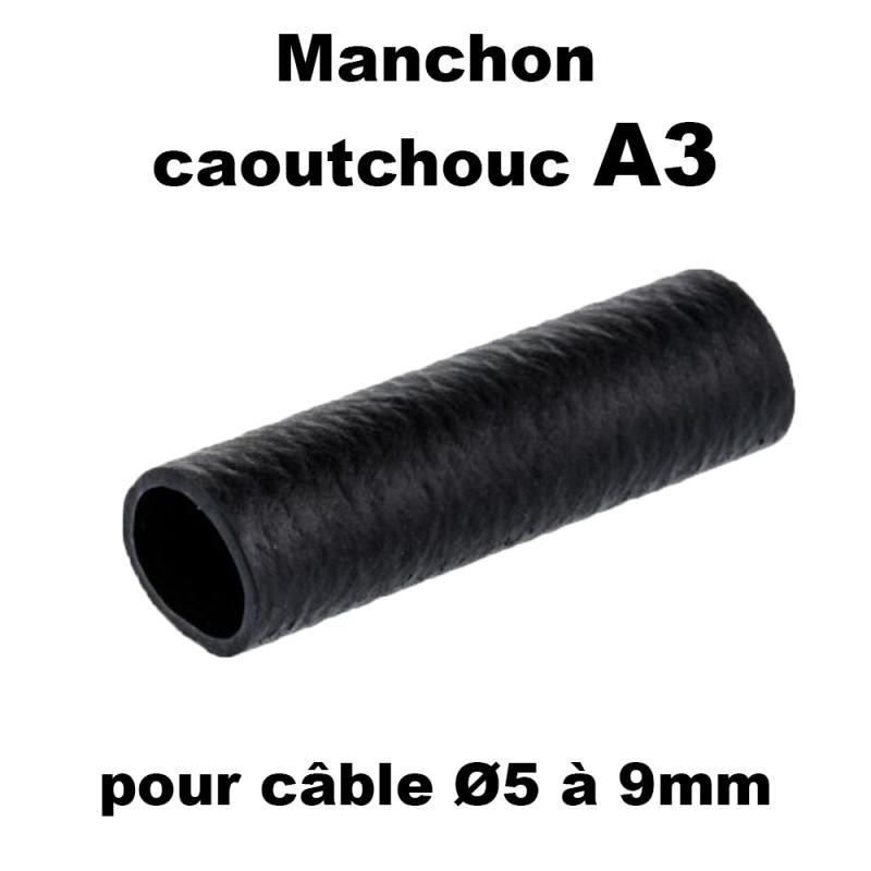Manchon caoutchouc A3 pour cable de 5 à 9mm en sachet de 100
