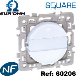 Bouton poussoir à fermeture avec porte étiquette Eurohm SQUARE Eur'Ohm