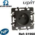 Prise 2P+T 16A Anthracite Esprit Eurohm certifiée NF Eur'Ohm