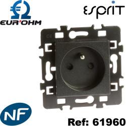 Prise 2P+T 16A Anthracite Esprit Eurohm certifiée NF