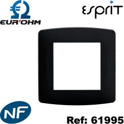 Plaque de finition Esprit Anthracite Eurohm Eur'Ohm