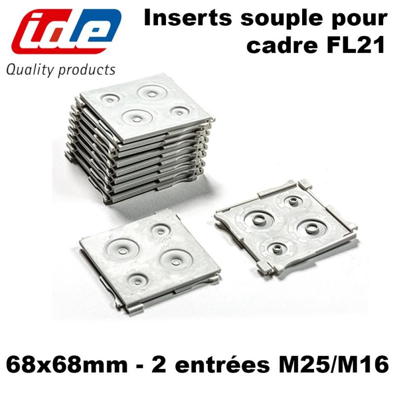 Insert souple pour cadre fl21 68x68cm 2 entrées - coffret Argenta