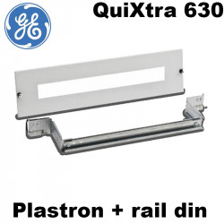 Plastron + rail DIN Armoire Quixtra 630 - General Electric
