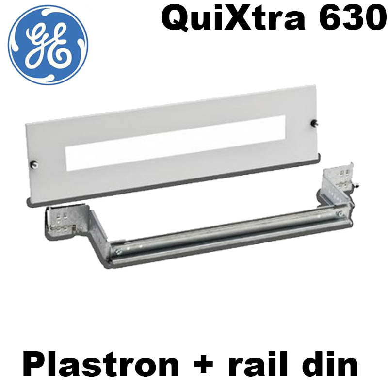 Plastron + rail DIN Armoire Quixtra 630 - General Electric General Electric