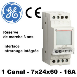 Horloge numérique GALAX Plus - interface infrarouge -3ans General Electric