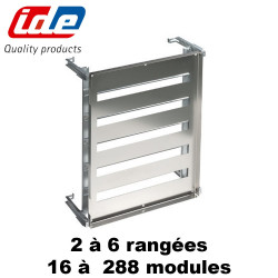 Chassis modulaire pour coffret INOX 304 (plastron + rail din)