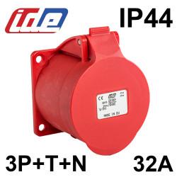 Embase femelle à encastrer 32A 3P+T+N - IP44