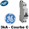 Disjoncteur Phase Neutre 3KA Courbe C General Electric