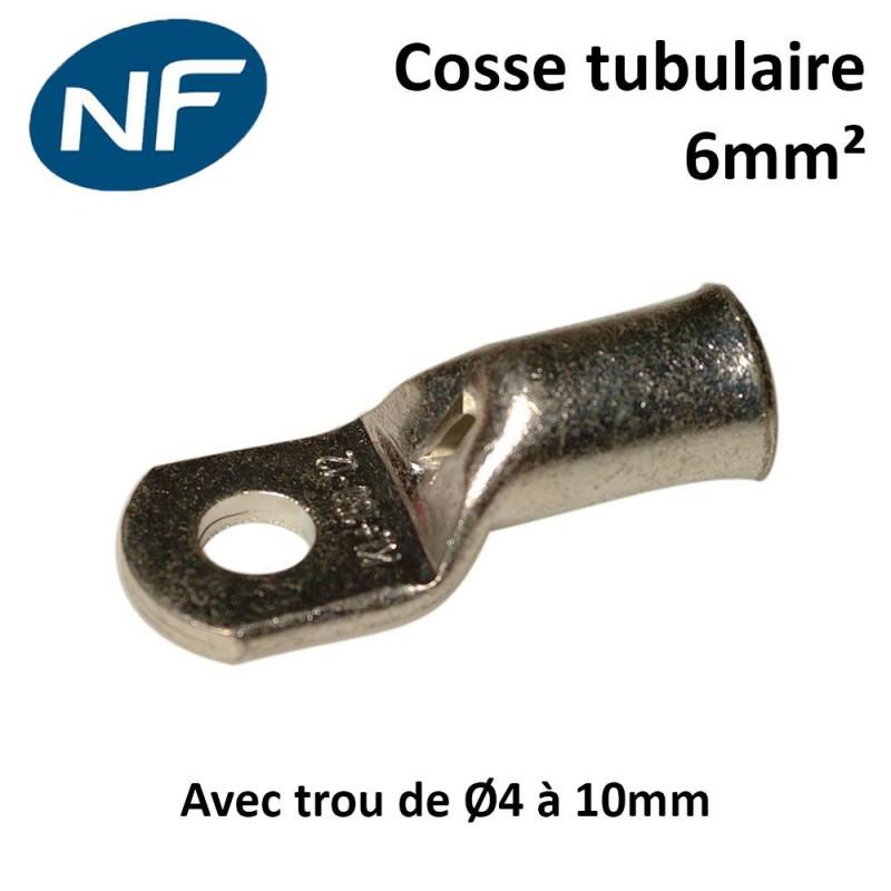 Cosses tubulaires cuivre 6mm² certifié NF