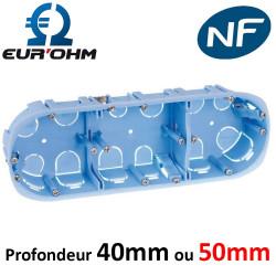 Boite d'encastrement placo triple - sans membranes - Ø67mm
