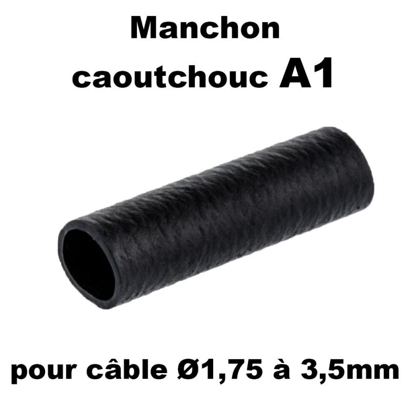 Manchon caoutchouc A1 pour câble de 1,75 à 3,5mm