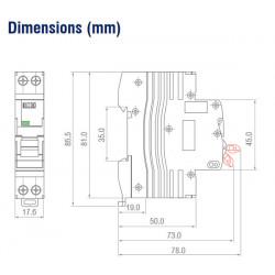 Disjoncteur phase neutre 4,5kA - Courbe C - IMO