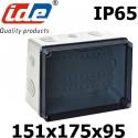 Boite de dérivation IP65 avec couvercle transparent et tétine passe câble IDE