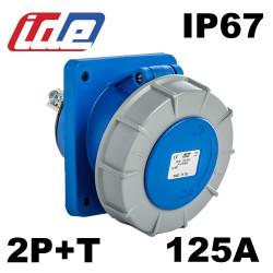Prise encastrable CEE 125A mono 2P+T étanche IP67 IDE