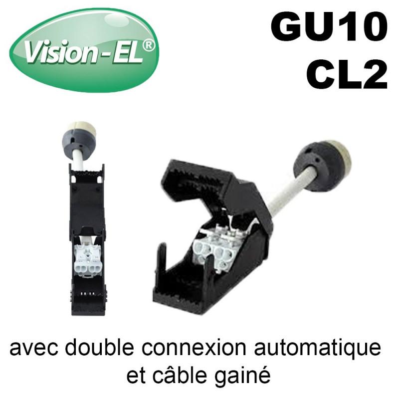 Douille Gu10 céramique avec double connexion automatique