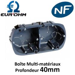 Boîte multi-matériaux 2 postes Ø67mm profondeur 40mm Eur'Ohm