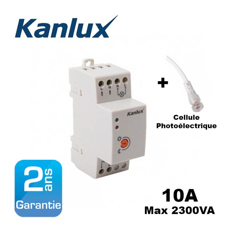 Interrupteur crépusculaire modulaire avec cellule photoélectrique déportée