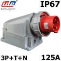 Socle prise hypra tétrapolaire 125A IP67 3P+N+T