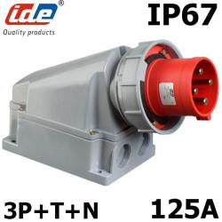 Socle prise hypra tétrapolaire 125A IP67 IDE