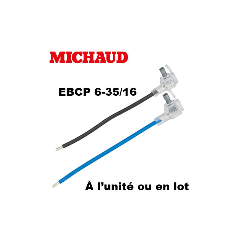 Embout EBCP 6-35 fouet 16mm² longueur 190mm Michaud Michaud