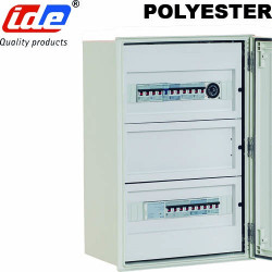 Chassis modulaire pour coffret polyester IDE avec rail DIN et Plastron