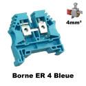 Borne ER 4mm² à vis - Bornier à clipser sur rail DIN