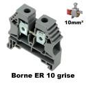 Borne ER 10mm² à vis - Bornier à clipser sur rail DIN