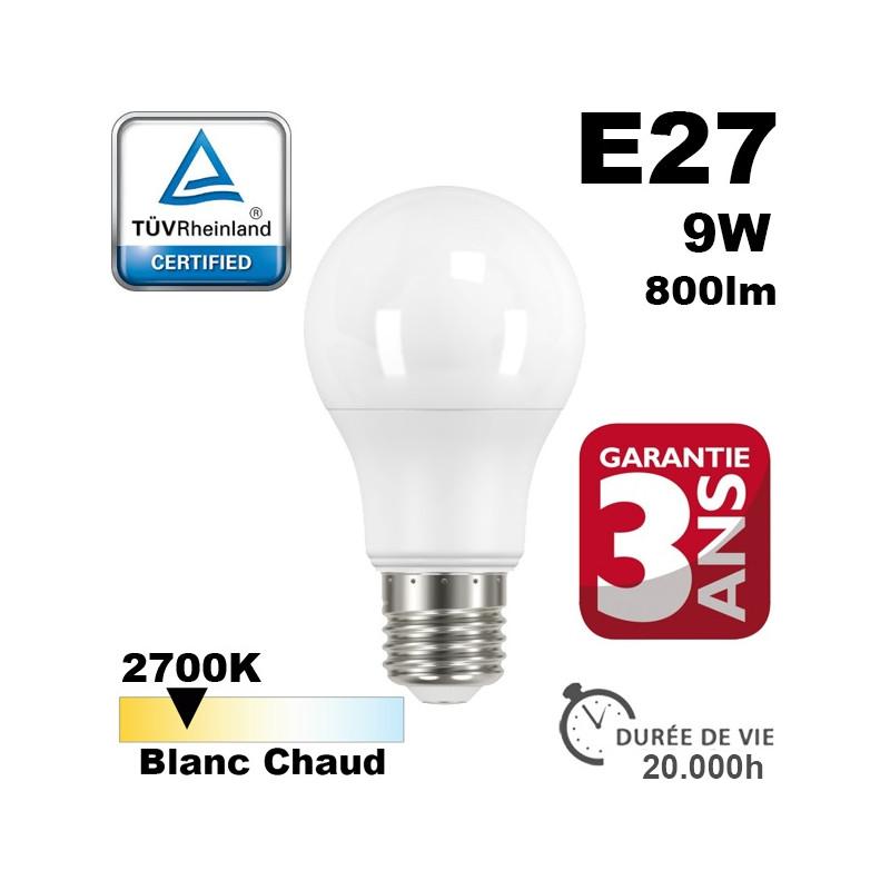 Ampoule LED E27 IQ-LED 9W 800lm 2700K 20,000h