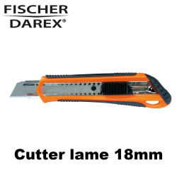 Cutter professionnel lame 18mm + recharge lames 18mm
