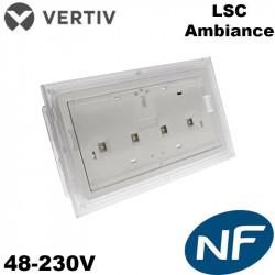 Luminaire ambiance LED ou antipanique (LSC)- 48V / 230V - 400lm Vertiv