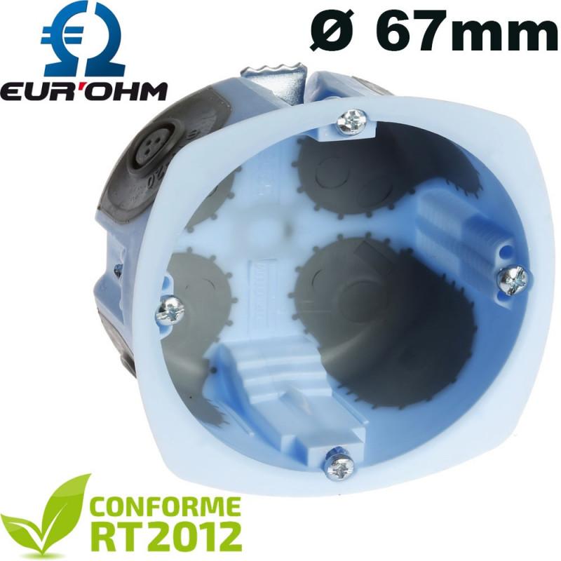Boite encastrable sur cloison seche eurohm AIRMETIC Ø67mm
