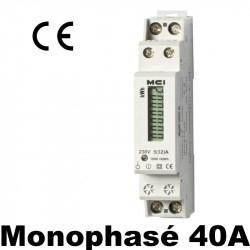 Compteur modulaire 40A - 230V avec écran LCD