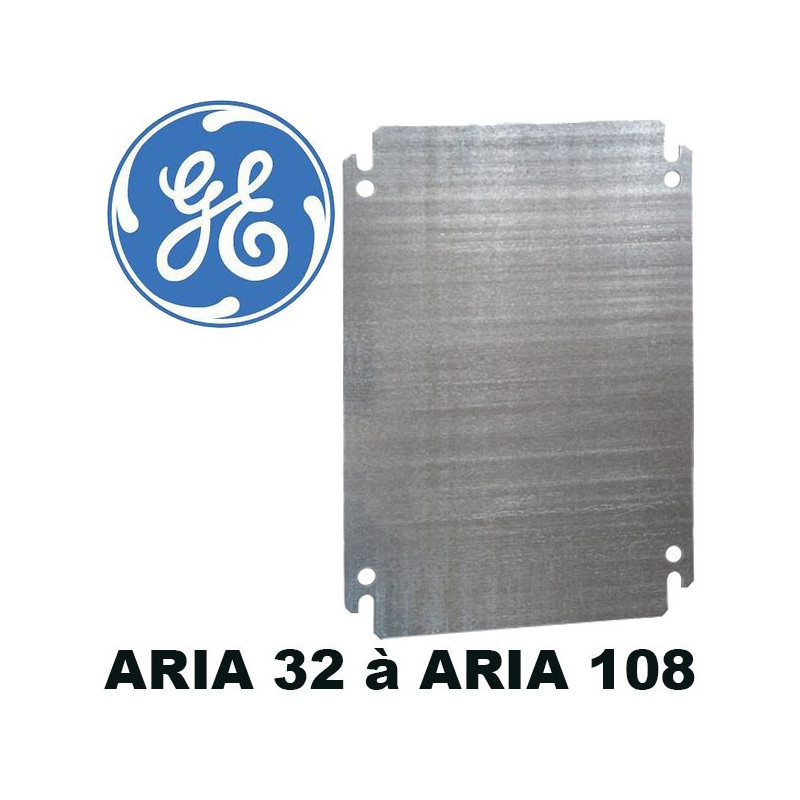 Plaque de montage pour coffret polyester ARIA General Electric