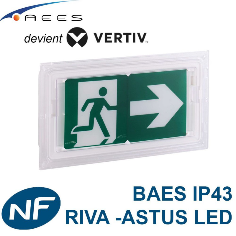 Bloc BAES Astus LED certifié NF RIVA Vertiv