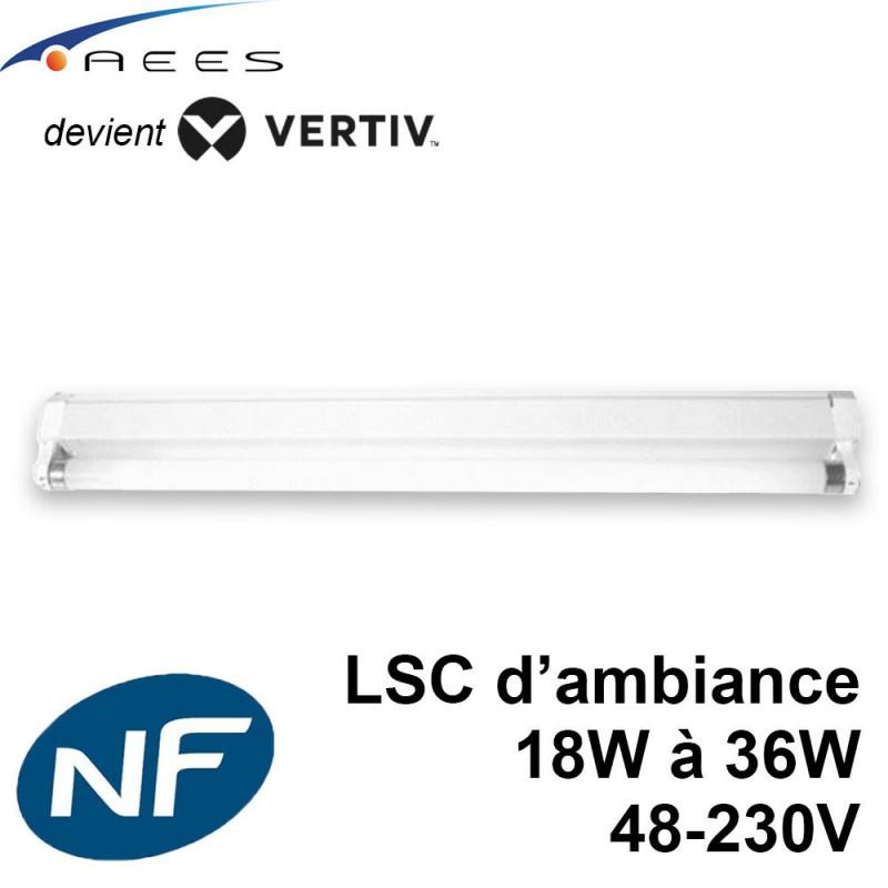 Réglette Fluobat TF pour tube fluo sur source centralisée Vertiv