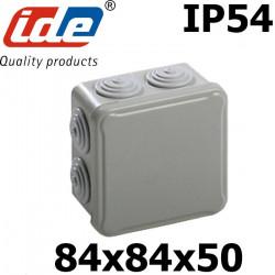 Boite de dérivation étanche IP65 (ou IP54) avec passes fils coniques IDE