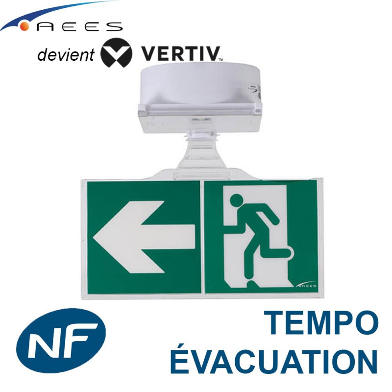 Bloc BAES ASTUS Tempo AEES évacuation SATI Vertiv