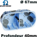 Boite Eur'Ohm AIRMETIC à encastrer Double poste Ø67mm Eur'Ohm