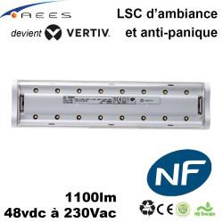 Luminaire d'ambiance et d'anti-panique - 48vdc à 230Vac - 1100lm