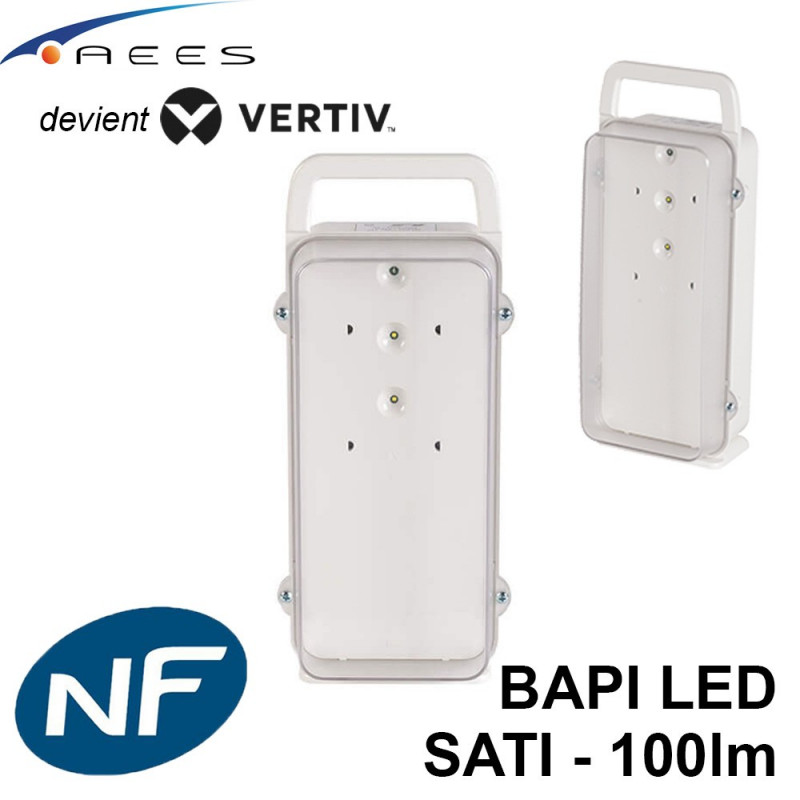 Bloc autonome portable d'intervention (BAPI) 100lm - 1h - SATI Vertiv