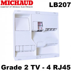 Tableau de communication Michaud LB207 NEO Grade 2 TV 4RJ45 + TV 2 sorties