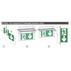 Support plaque verticale pour BAES RIVA Vertiv