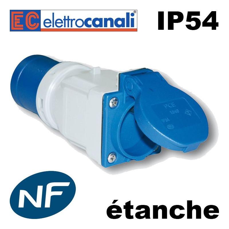 Adaptateur camping NF étanche IP54 fabriqué en Italie