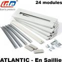 Kit plastron + rail DIN pour coffret IDE Atlantic IDE