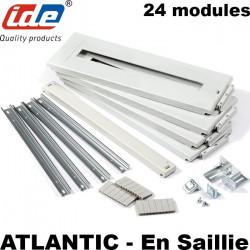 Kit plastron + rail DIN pour coffret IDE Atlantic