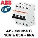 Disjoncteur tétrapolaire courbe C 6kA ABB
