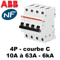 Disjoncteur tétrapolaire courbe C 6kA